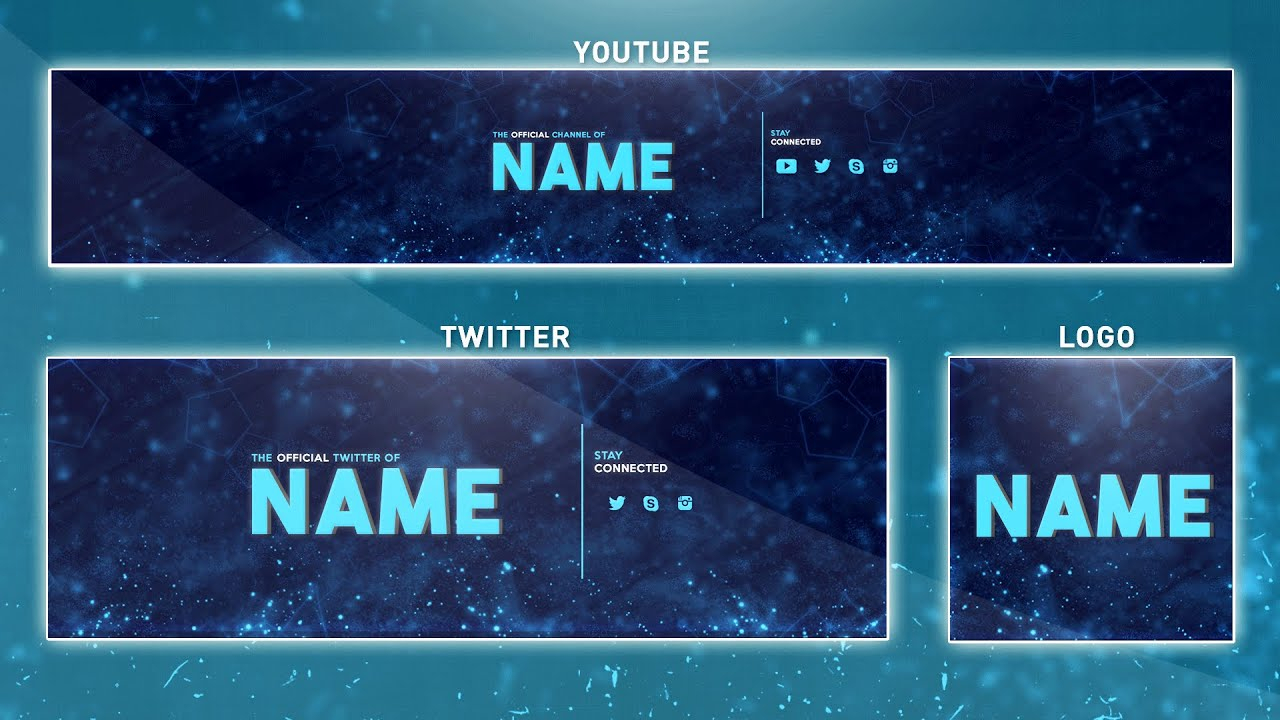 Free Youtube Banner Template | Photoshop (Banner + Logo + Twitter Psd) 2016 With Regard To Adobe Photoshop Banner Templates