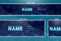 Free Youtube Banner Template | Photoshop (Banner + Logo + Twitter Psd) 2016 within Youtube Banners Template