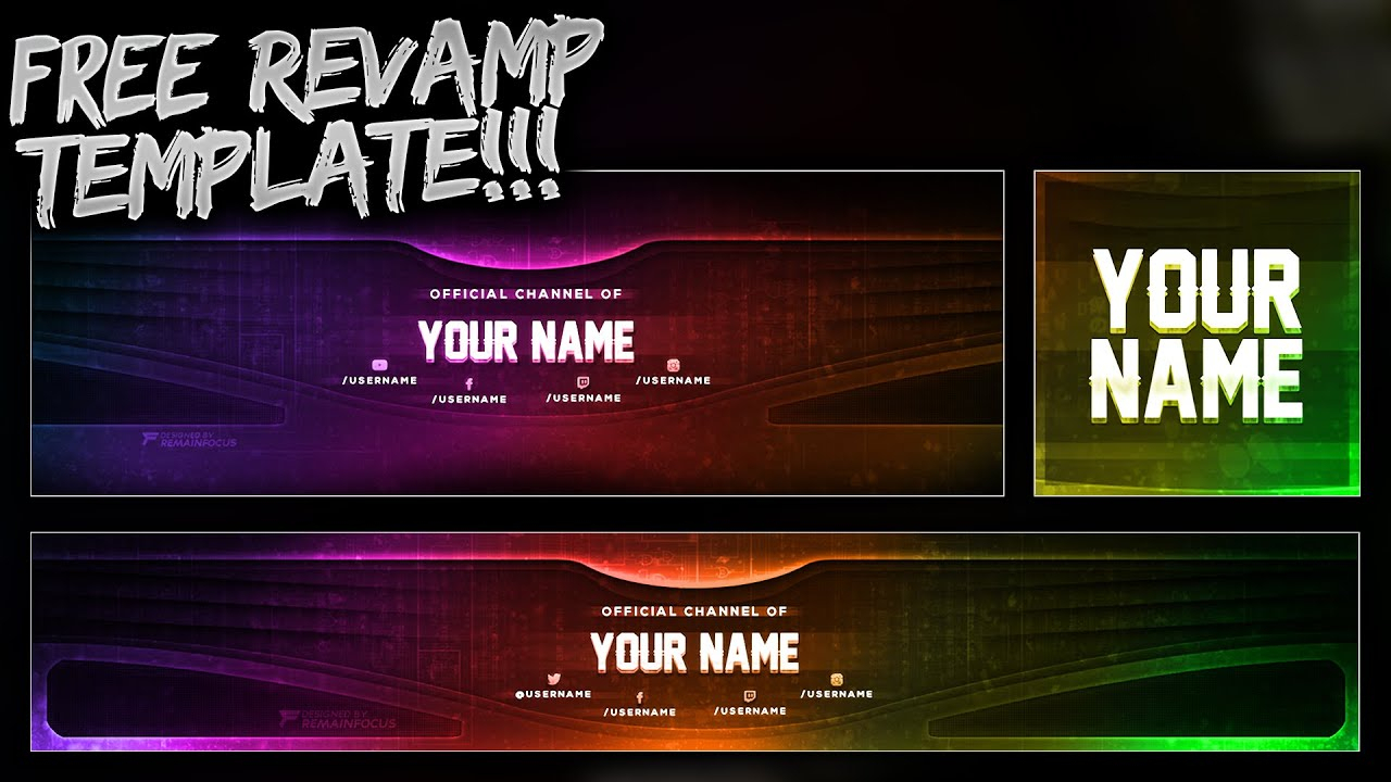 Free Youtube Banner + Twitter Header Template Psd - Free Download - Free Gfx Inside Twitter Banner Template Psd