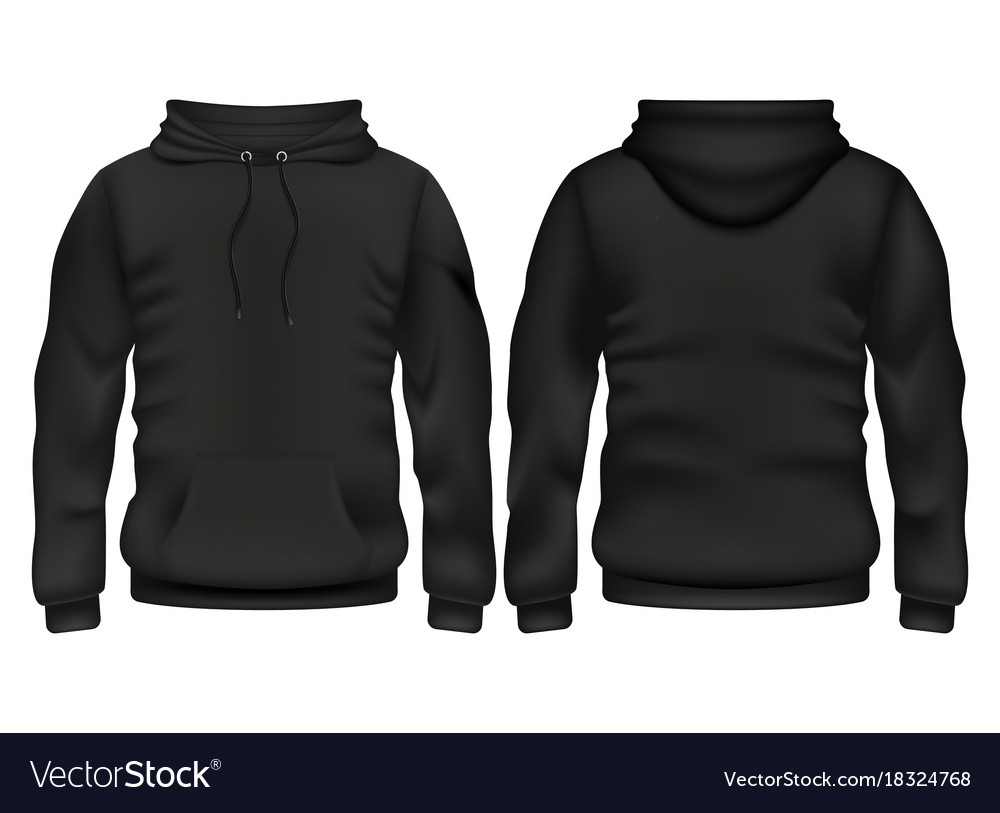 Front And Back Black Hoodie Template In Blank Black Hoodie Template