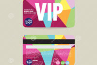 Front And Back Vip Member Card Template. Stock Vector inside Membership Card Template Free