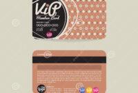 Front And Back Vip Member Card Template. Stock Vector regarding Membership Card Template Free