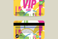 Front And Back Vip Member Card Template with Membership Card Template Free