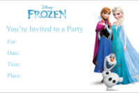 Frozen Free Printable Birthday Party Invitation Personalized pertaining to Frozen Birthday Card Template