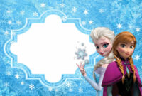 Frozen: Free Printable Cards Or Party Invitations. In 2019 with Frozen Birthday Card Template