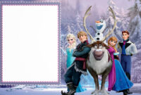 Frozen: Free Printable Cards Or Party Invitations. – Oh My throughout Frozen Birthday Card Template