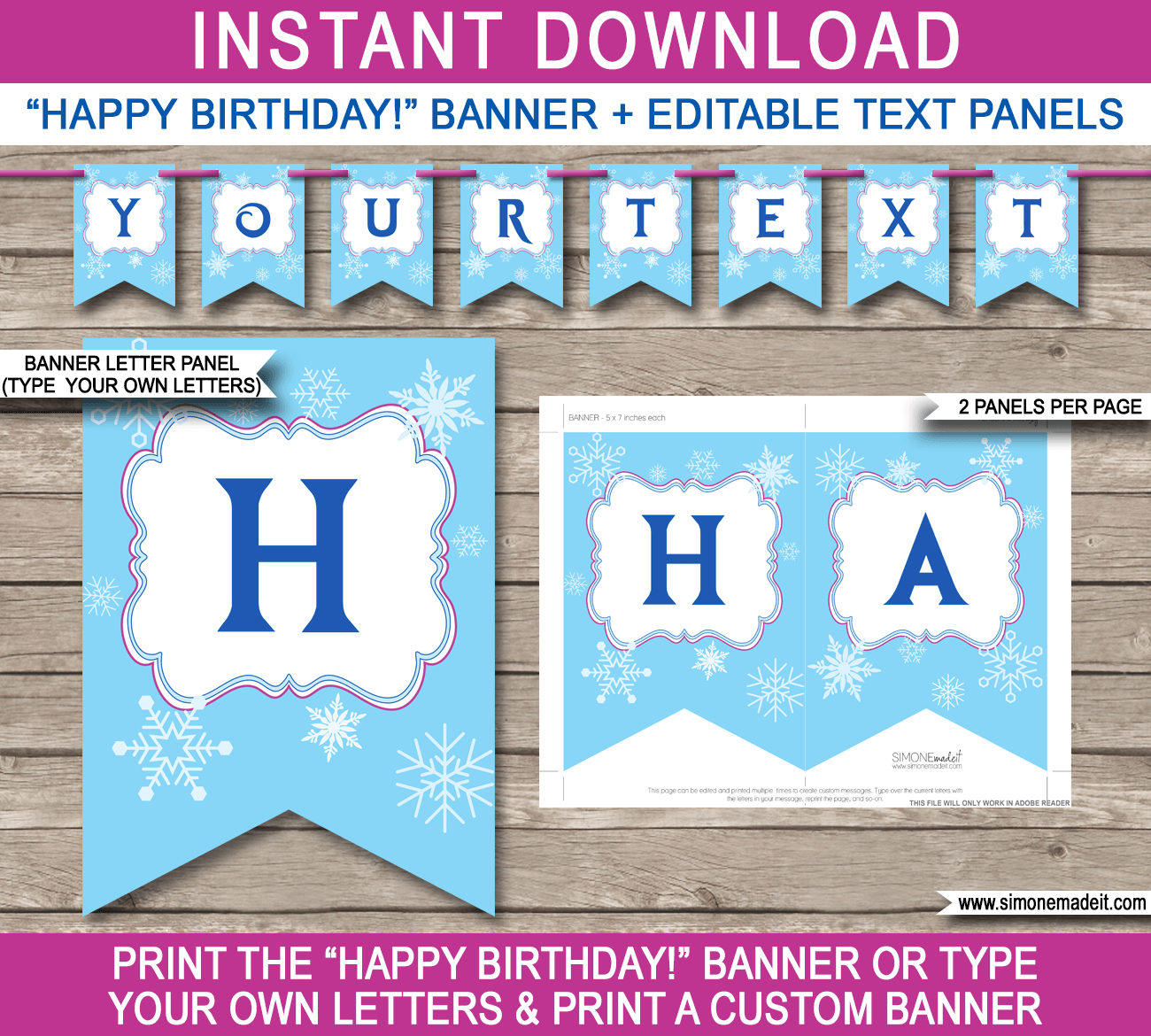 Frozen Party Banner Template Within Diy Party Banner Template