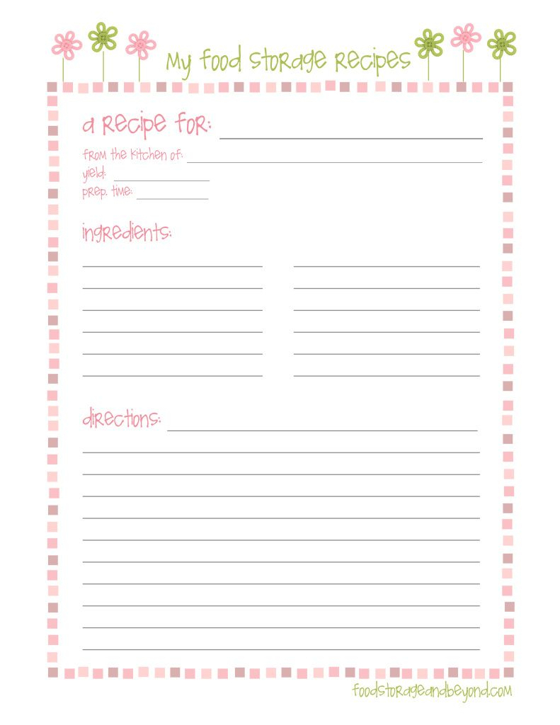 Fsb Full Page Recipe Card … | Make To Sell | Printable Inside Full Page Recipe Template For Word