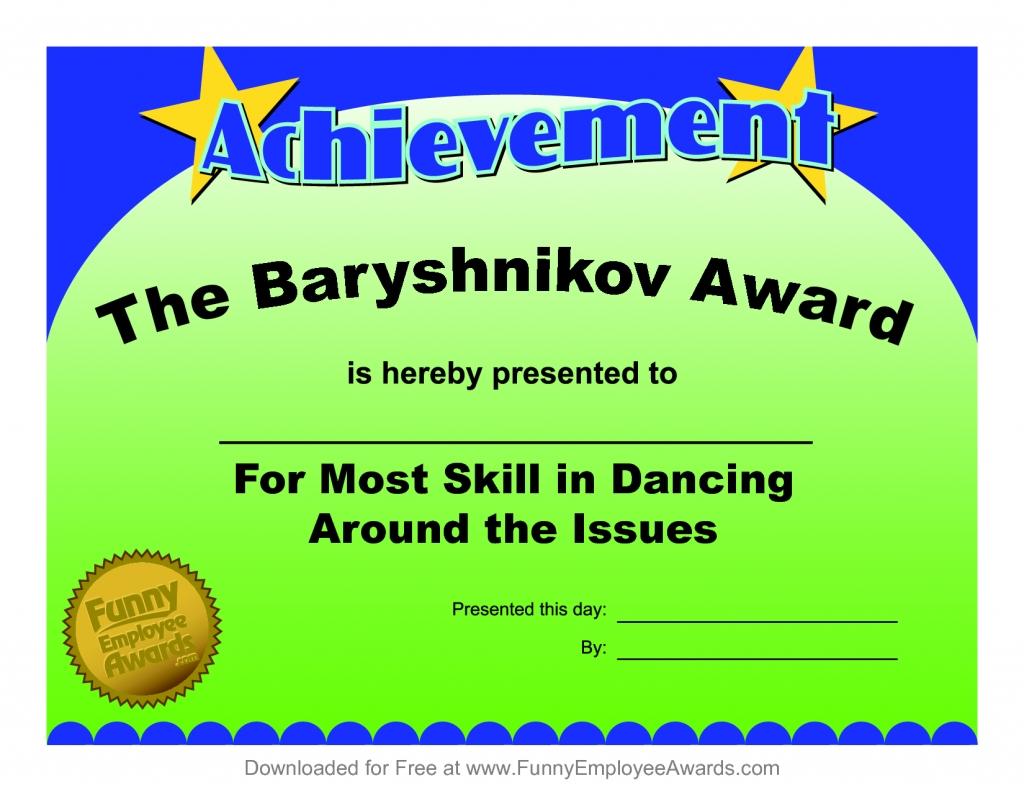 Funny Certificate Templates | Free Download Template Design Regarding Fun Certificate Templates