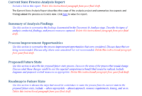 Future State Process Report Template Throughout Improvement Report Template