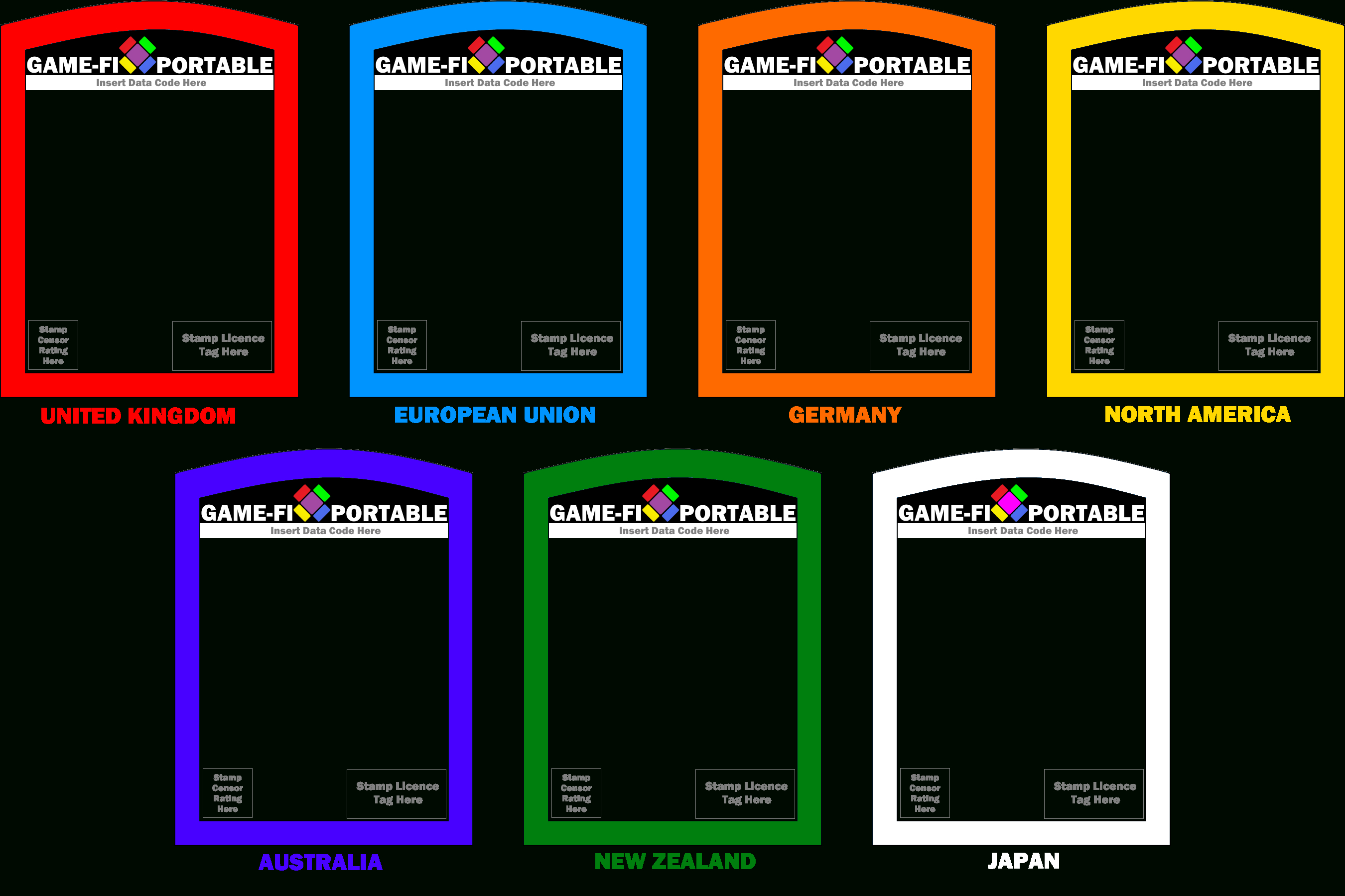 Game Fi Portable Game Card Templateslevelinfinitum On With Template For Game Cards