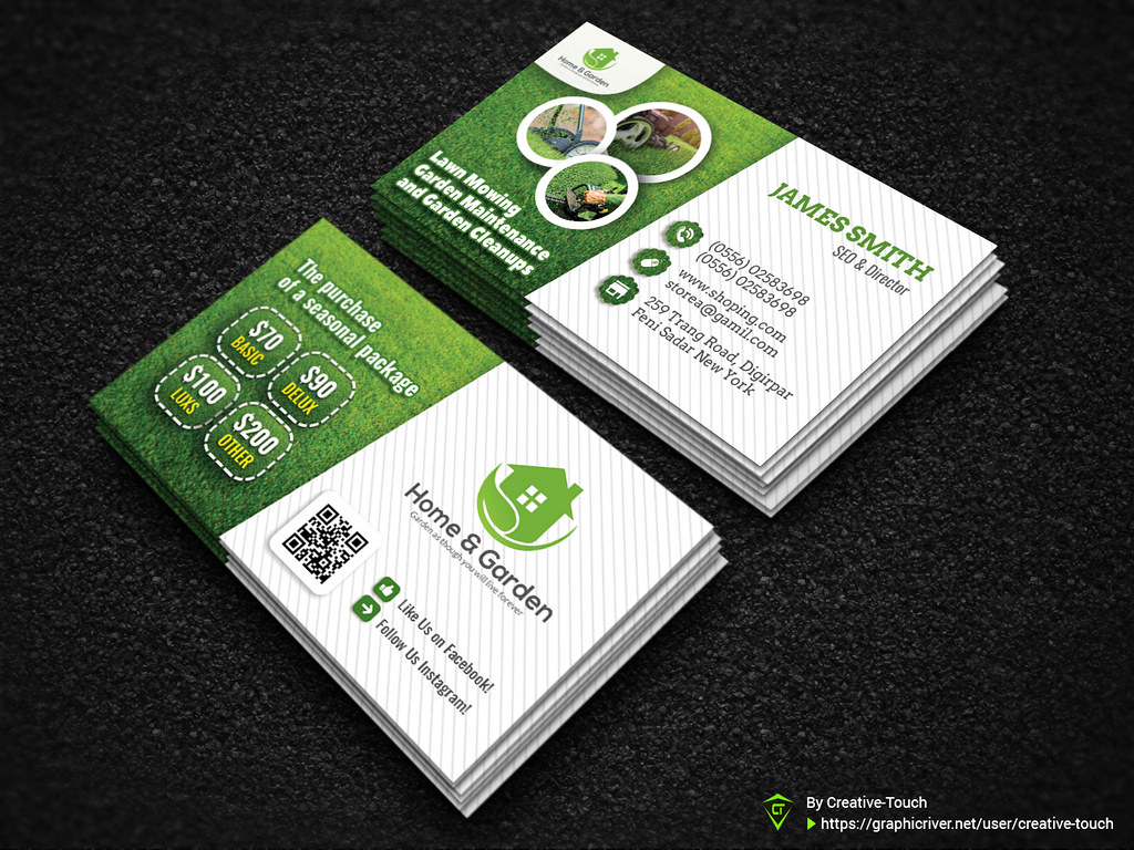 Garden Landscape Business Card Template | Download Here - Gr Intended For Landscaping Business Card Template