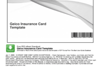 Geico Insurance Card Template Pdf – Fill Online, Printable inside Car Insurance Card Template Download