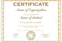 General Purpose Certificate Or Award With Sample Text That Can.. throughout Template For Certificate Of Award