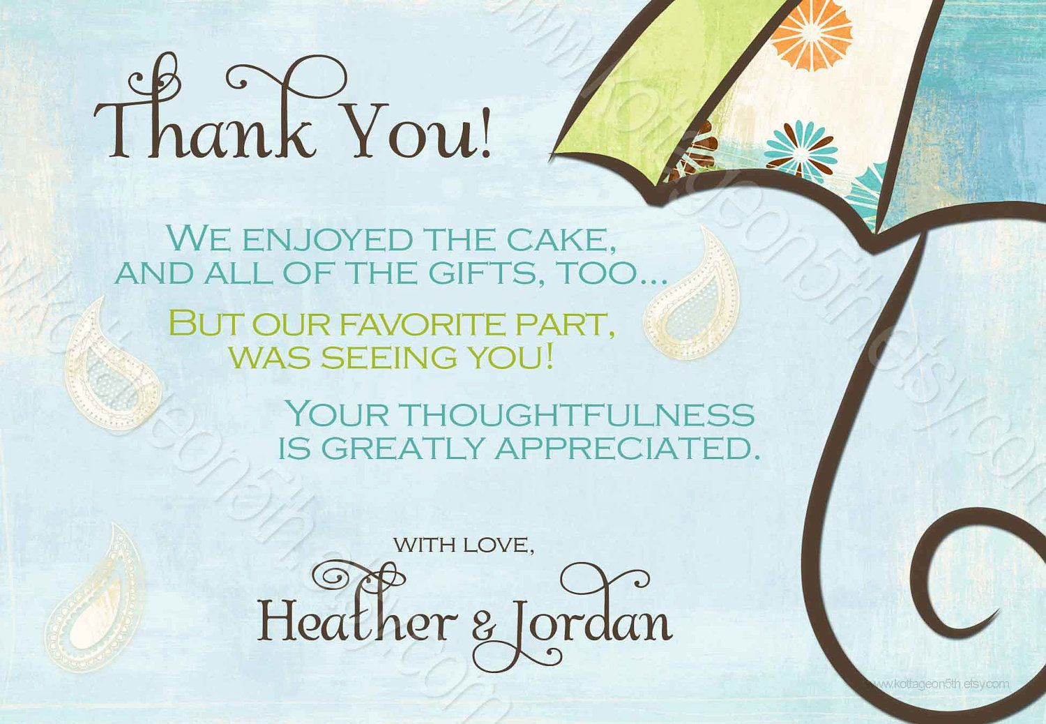 Generic Baby Shower Thank You Wording - Yahoo Image Search Regarding Template For Baby Shower Thank You Cards