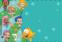 Get Free Printable Bubble Guppies Baby Shower Invitation throughout Bubble Guppies Birthday Banner Template