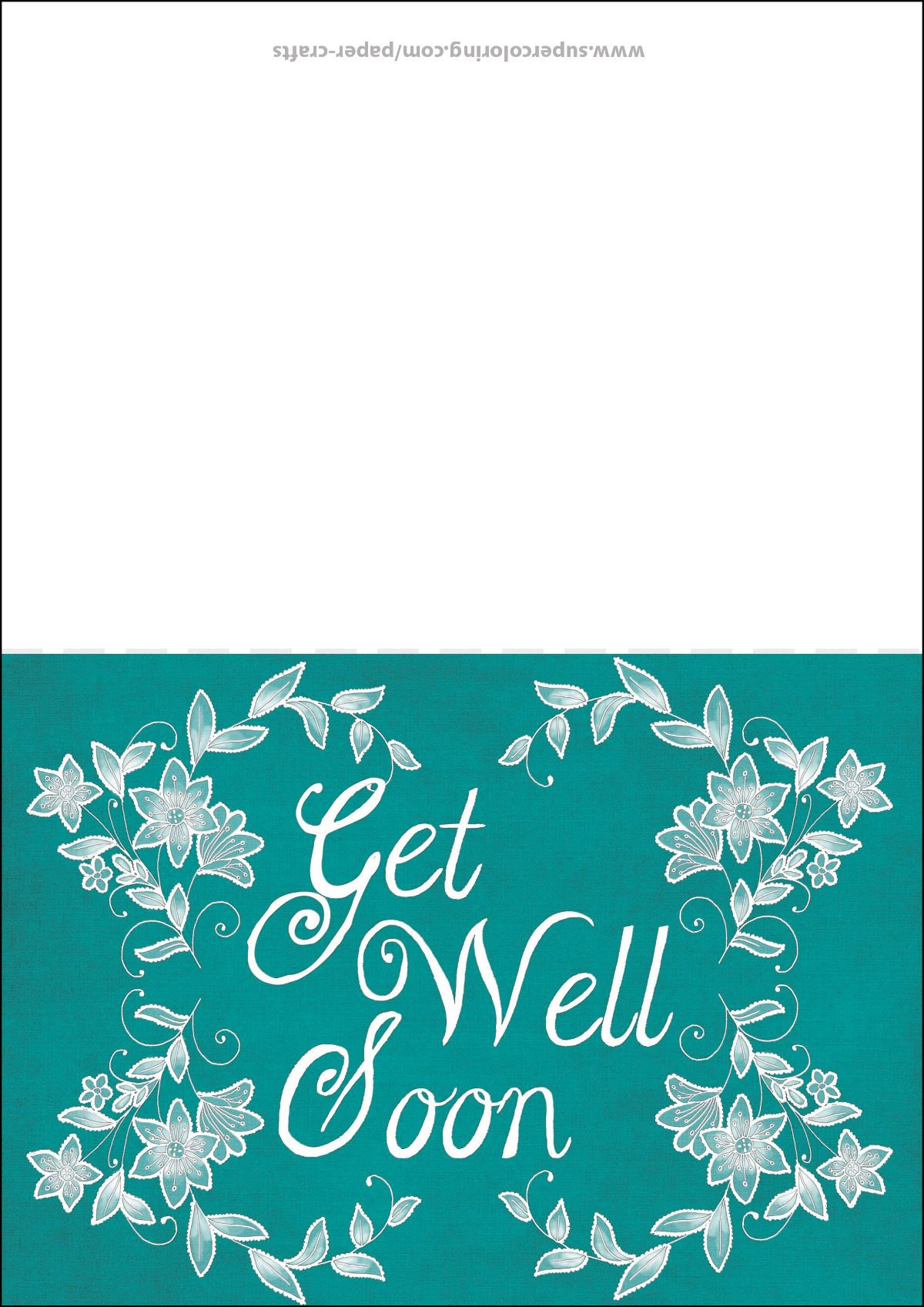 Get Well Soon Card Template   Free Printable Papercraft With Regard To Get Well Soon Card Template