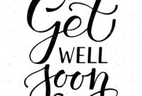 Get Well Soon Typography Cardalps View Art On for Get Well Card Template