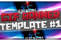 Gif Banner Template #1 (Minecraft Style Animated Banner For Photoshop Cs6  Download) regarding Animated Banner Template