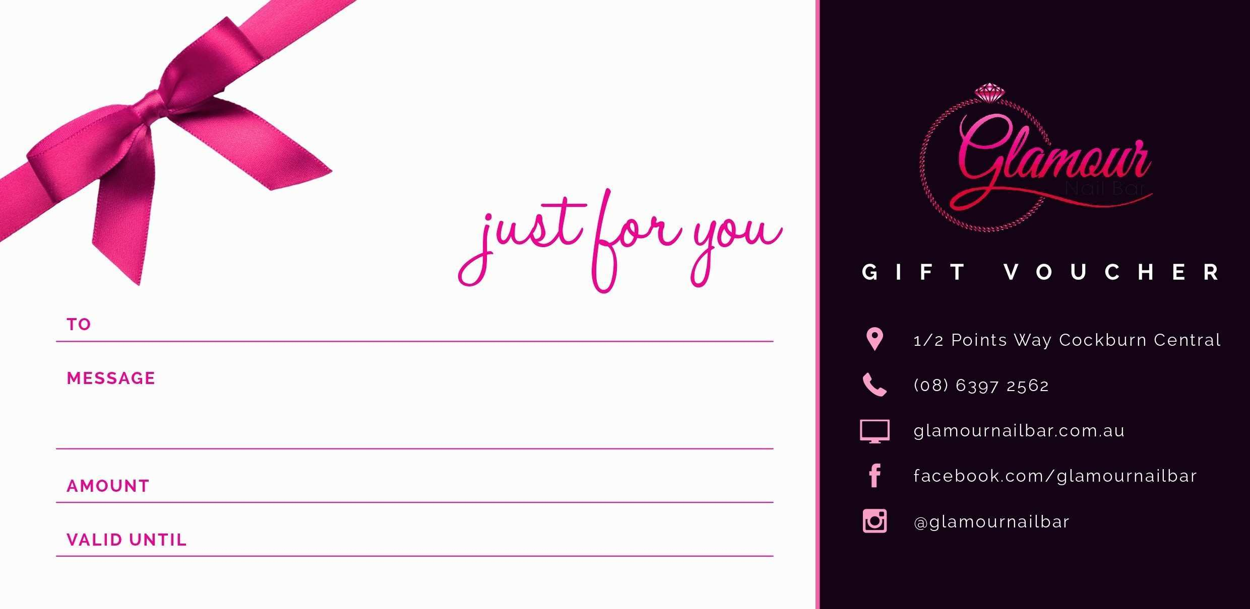 Gift Certificate Example Templates Massage Unique Nail Within Nail Gift Certificate Template Free