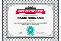 Gift Certificate. First Place Award Sign Icon. Prize For Winner.. For First Place Award Certificate Template