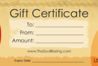 Gift Certificates throughout Restaurant Gift Certificate Template