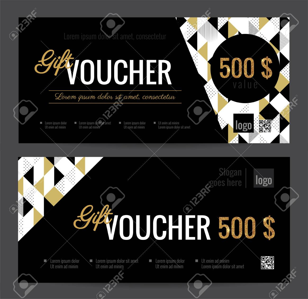 Gift Voucher Coupon Discount. Elegant Gift Certificate Template.. Within Black And White Gift Certificate Template Free