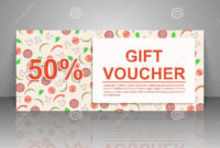 Gift Voucher Template. Pizza Flyer. Stock Vector pertaining to Pizza Gift Certificate Template
