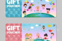 Gift Voucher Template With Colorful Pattern,cute Gift Voucher.. with Kids Gift Certificate Template
