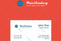 Globe Logo Design With Business Card Template Vector Image On Vectorstock for Adobe Illustrator Business Card Template