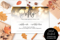 Gold Wedding Rsvp Cards, Gold Hearts Wedding, Reply Acceptance, Attendance  Cards, Rsvp Template, Wedding Printable, Download Rsvp Insert intended for Acceptance Card Template