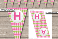 Golf Birthday Party Banner Template – Pink & Green with regard to Diy Party Banner Template