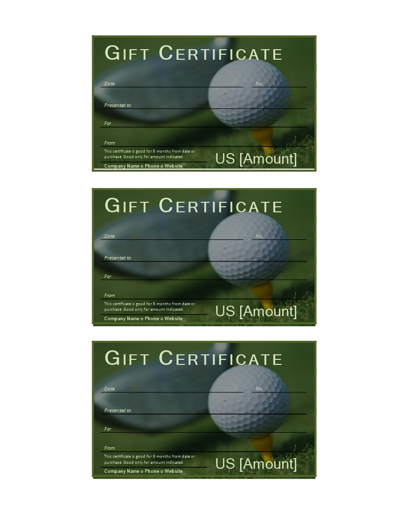 Golf Gift Certificate - Download This Free Printable Golf Throughout Golf Gift Certificate Template