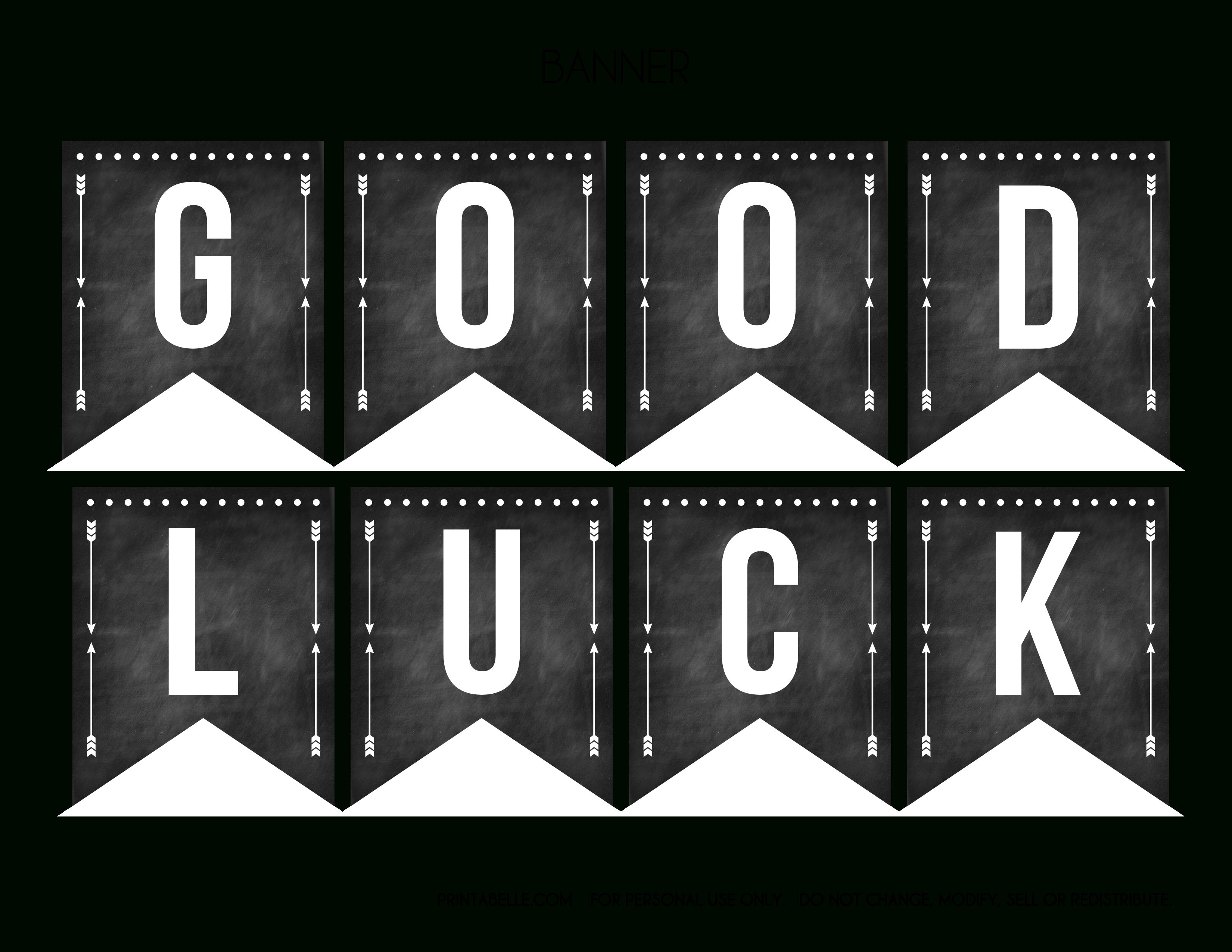 Good Luck Banner Template Best Template Examples | Sweet For Good Luck Banner Template
