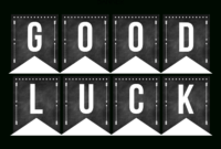Good Luck Banner Template Best Template Examples | Sweet In within Good Luck Banner Template