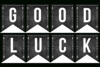 Good Luck Banner Template Best Template Examples within Good Luck Banner Template