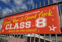 Goodbye & Good Luck Banner throughout Good Luck Banner Template