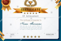 Graceful Certificate Template Luxury Modern Pattern Stock with regard to Qualification Certificate Template