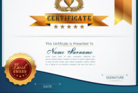 Graceful Certificate Template Vector Image On Vectorstock intended for Qualification Certificate Template