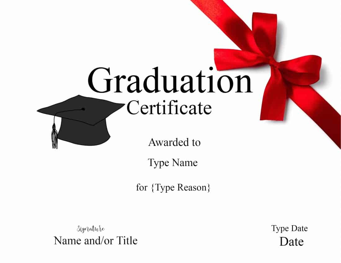 Graduation Gift Certificate Template Free Templates Intended In Graduation Gift Certificate Template Free