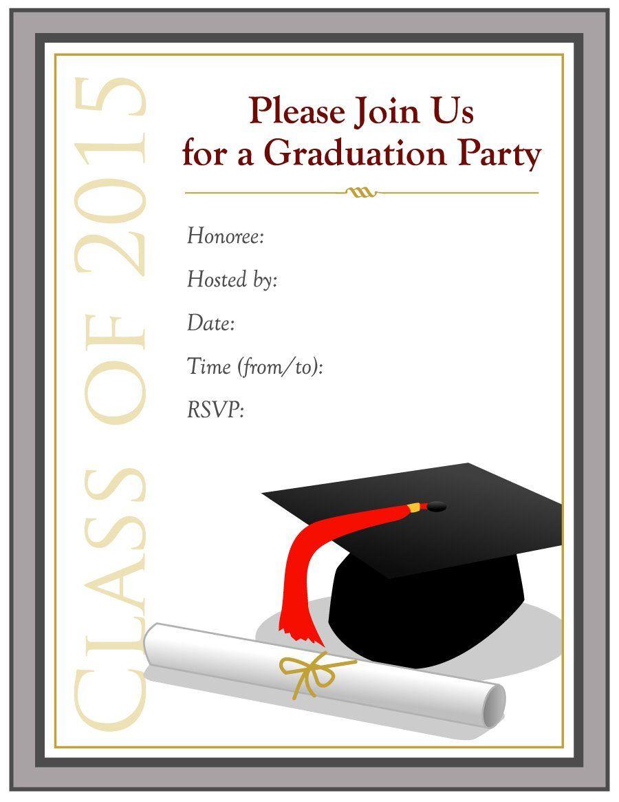 Graduation Invitation Templates - 40+ Free Graduation Regarding Free Graduation Invitation Templates For Word