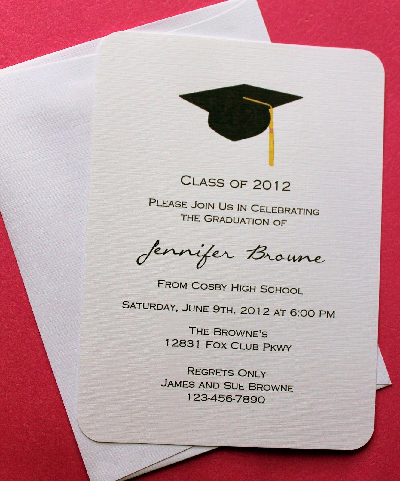 Graduation Invitation Templates Microsoft Word   Graduation Regarding Graduation Party Invitation Templates Free Word