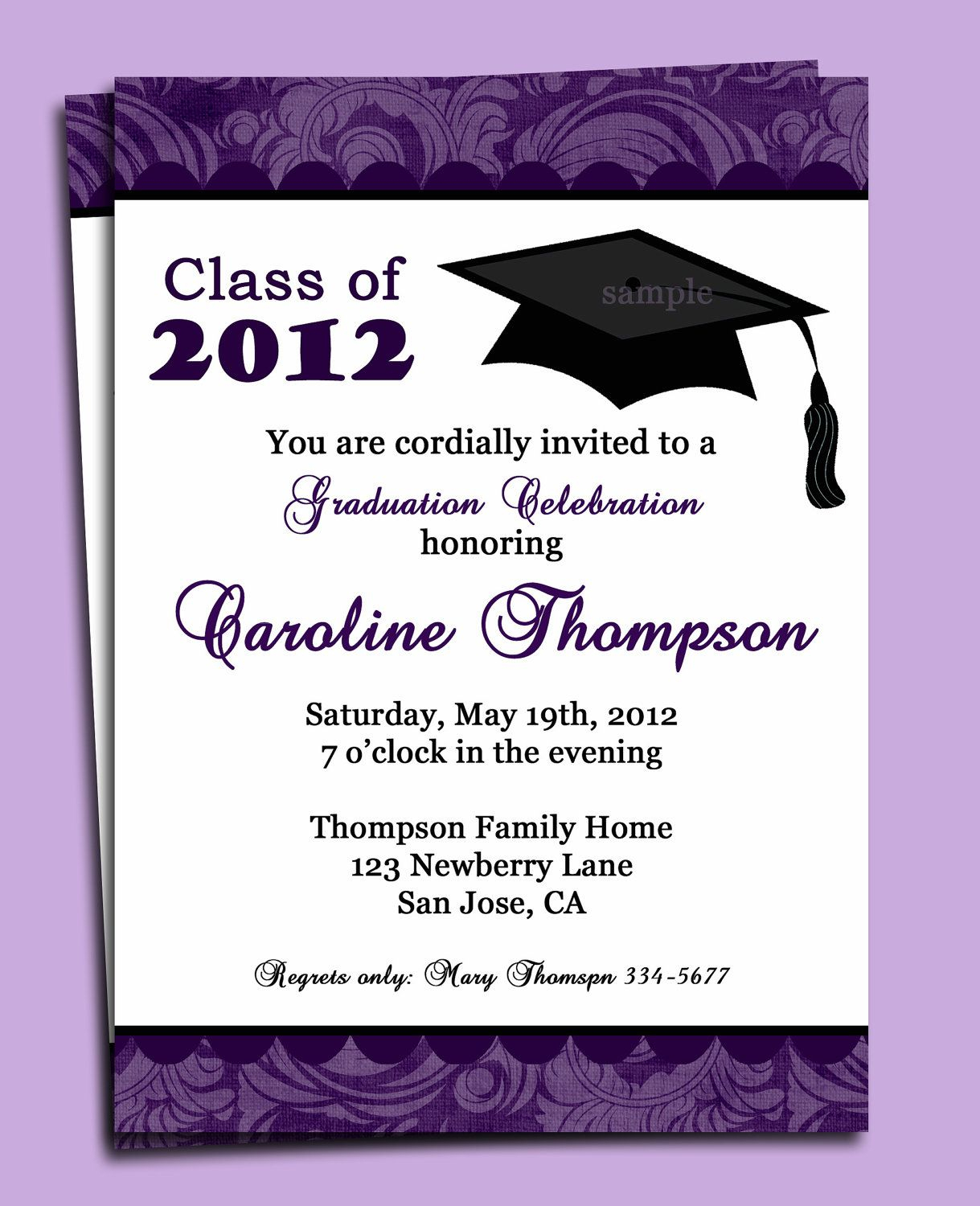 Graduation Party Or Announcement Invitation Printable – You For Graduation Party Invitation Templates Free Word
