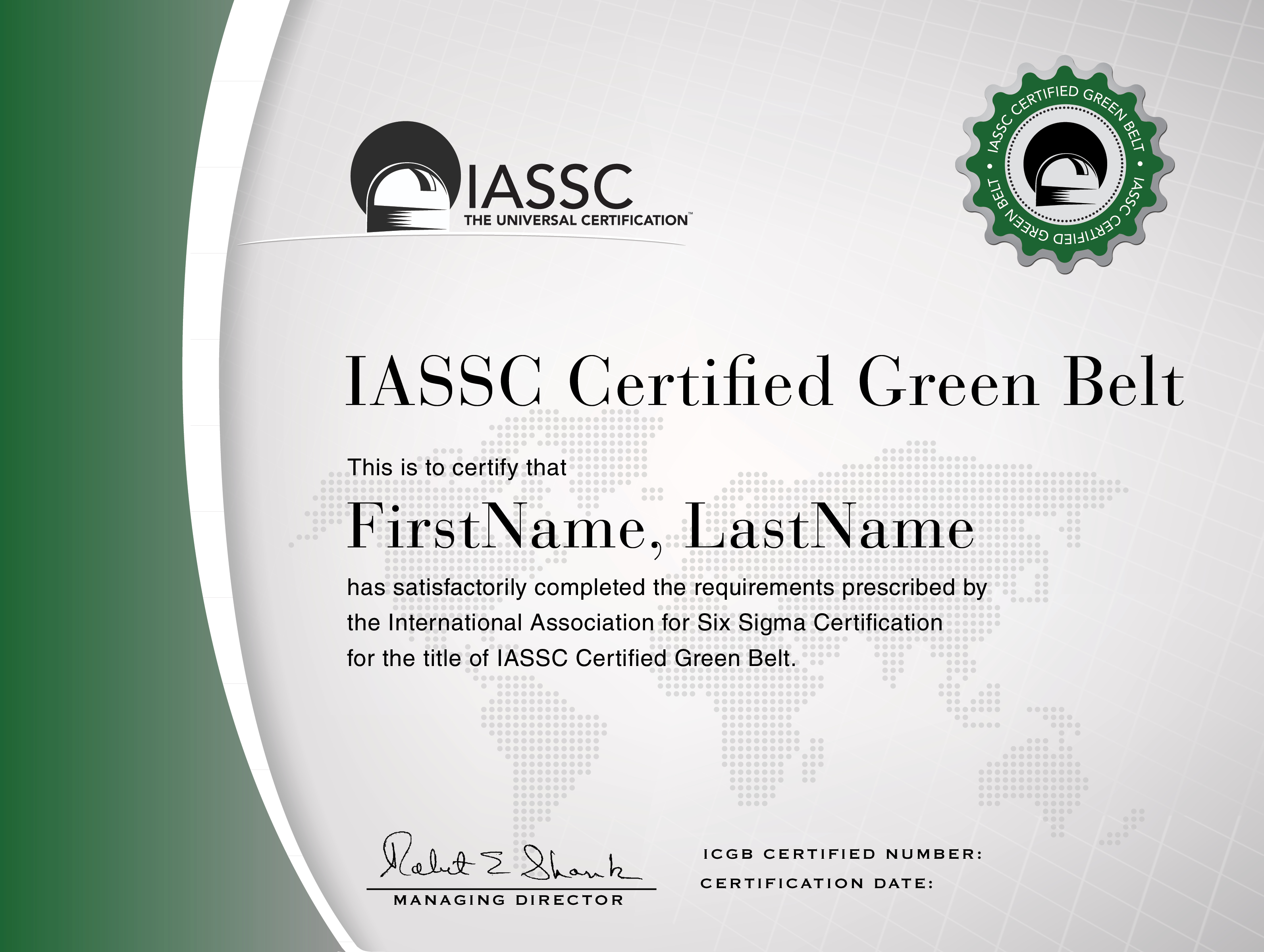 Green Belt Certification | Lean Six Sigma, Six Sigma Tools With Green Belt Certificate Template