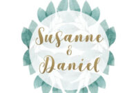 Green Leaves Wedding Save-The-Date Template | Free with Save The Date Templates Word