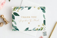 Greenery Thank You Card Template, Instant Download in Thank You Note Card Template