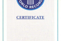 Guinness World Record Certificate Template – Alanbrooks For Guinness World Record Certificate Template