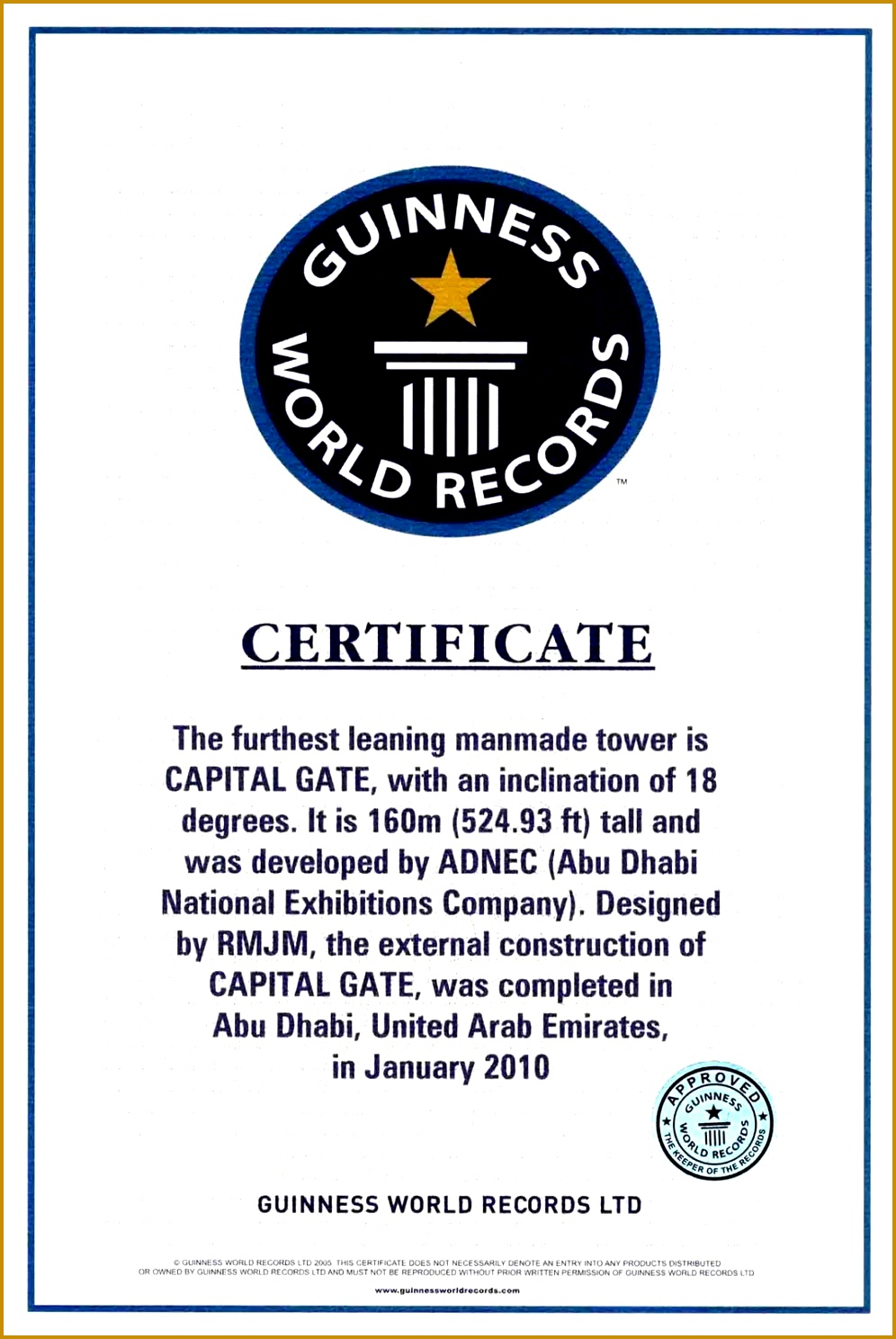 Guinness World Record Certificate Template – Corto Within Guinness World Record Certificate Template