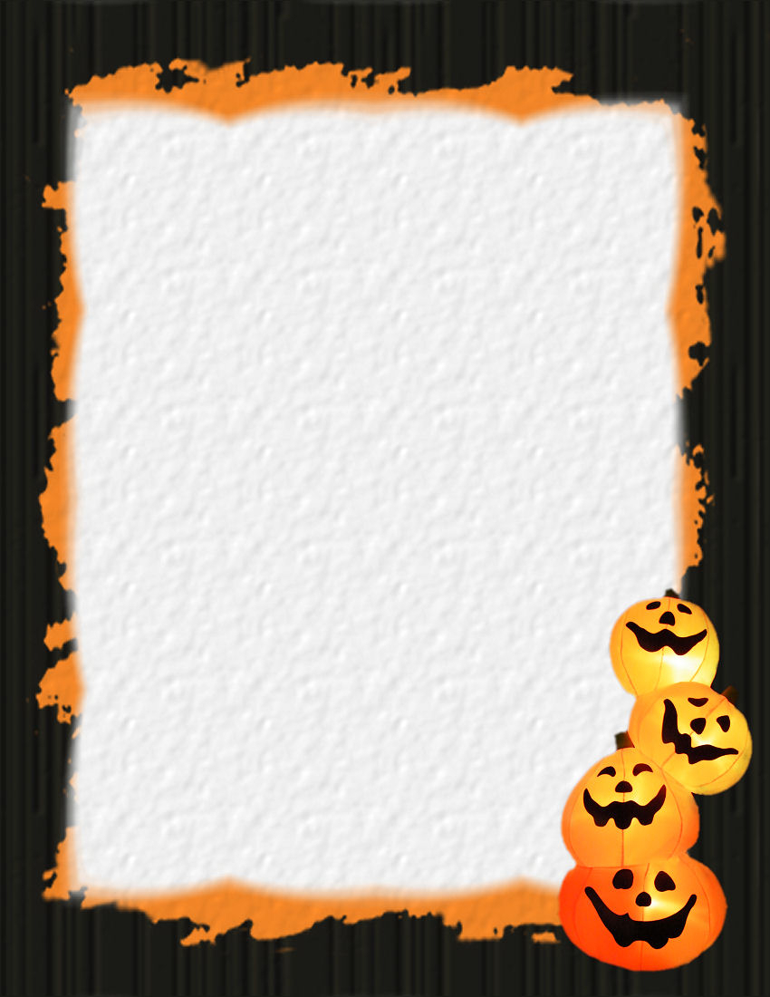 Halloween 1 Free Stationery Template Downloads For Free Halloween Templates For Word