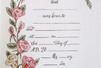 Hand Drawn & Painted Birth Certificate (Perfect For A Little regarding Birth Certificate Fake Template